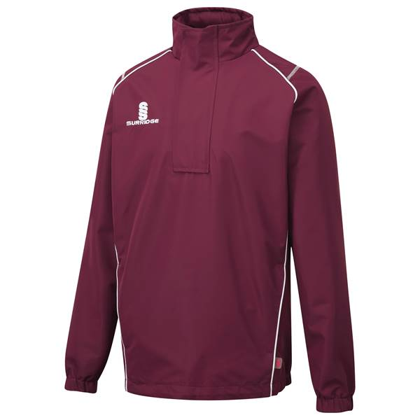 Picture of Curve 1/4 Zip Rain Jacket - Maroon/White