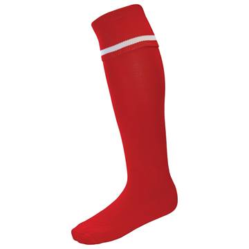Picture of Single Band Sock - Red/White