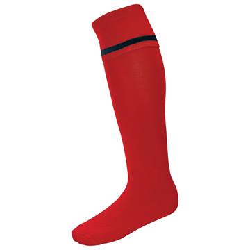 Picture of Single Band Sock - Red/Black