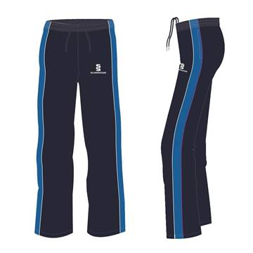 Picture of Navy Sweat pants with Royal stripe - white and pink piping