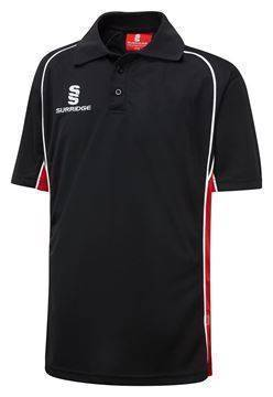 Picture of POLO SHIRT BLACK/RED