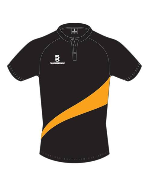 Picture of BLACK/AMBER SWOOSH POLO
