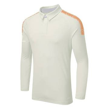 Picture of DUAL CRICKET LONG SLEEVE SHIRT: ORANGE