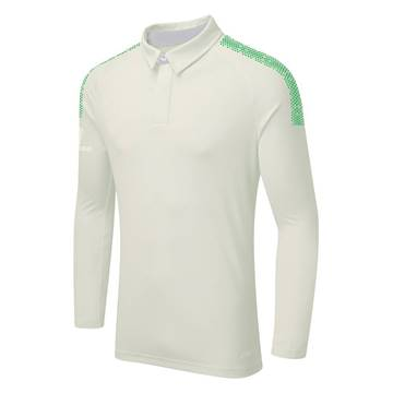 Picture of DUAL CRICKET LONG SLEEVE SHIRT: EMERALD