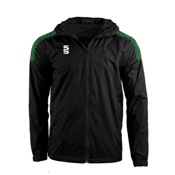 Picture of DUAL FULL ZIP TRAINING JACKET - BLACK/EMERALD