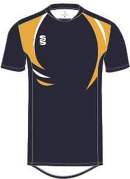 Picture of DUAL TRAINING T-SHIRT - NAVY/AMBER/WHITE