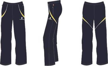 Picture of TRACK SUIT PANTS - NAVY/YELLOW