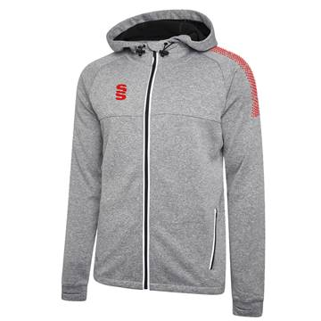 Picture of DUAL FULL ZIP HOODY GREY / RED