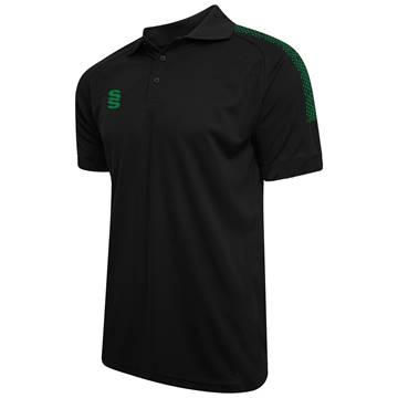 Picture of Dual Solid Colour Polo - Black/Bottle