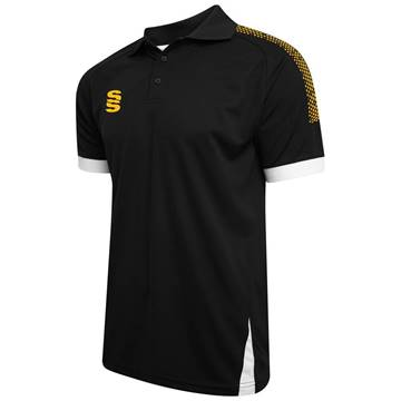 Picture of Fuse Polo Shirt : Black / Amber / White
